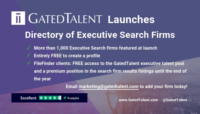 GatedTalent launches Directory of Executive Search Firms