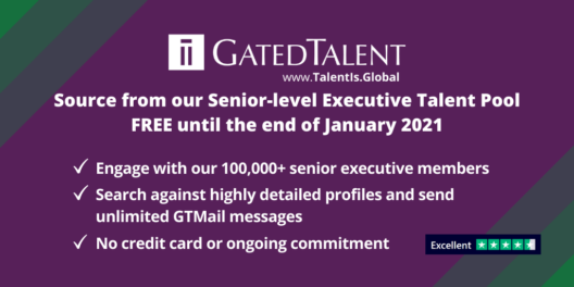 Source from GatedTalent - where executive recruiters meet senior-level executives - for free until September 2020
