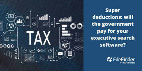Super Deductions: Will the Government Pay for Your Executive Search Software?